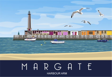 Margate Harbour Arm in Thanet in Kent